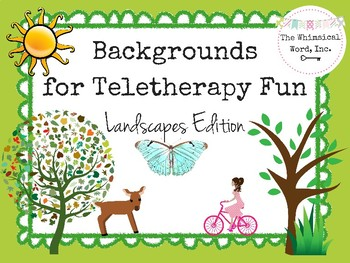 Backgrounds for Teletherapy Fun Teletherapy Freebie