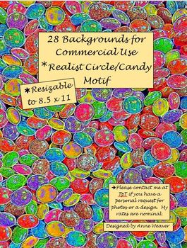 Backgrounds in Realist Candy Motif for Commercial Use
