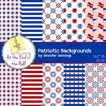 Backgrounds - patriotic themed digital paper