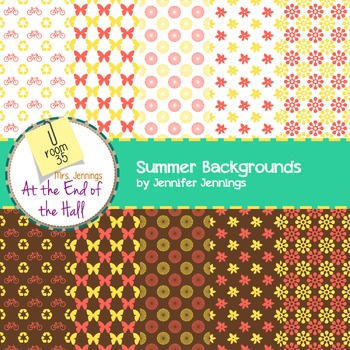 Backgrounds - summer color theme