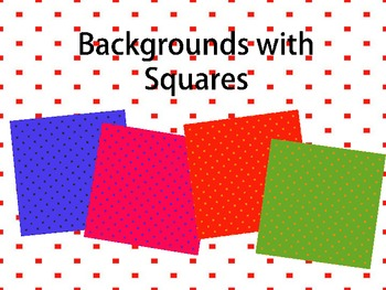 Backgrounds with Squares