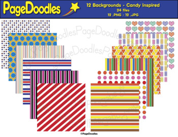 Backgrounds, Candy Inspired, for TPT Sellers - High Quality Vector Graphics