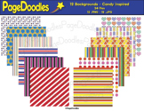 Backgrounds, Candy Inspired, for TPT Sellers - High Qualit