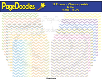 Backgrounds, Chevron, Pastels, for TPT Sellers - High Quality Vector Graphics