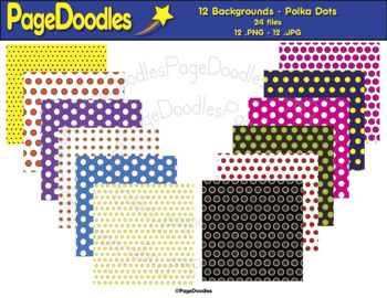 Backgrounds, Polka Dots, for TPT Sellers - High Quality Vector Graphics