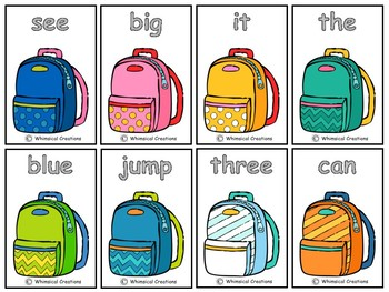 Backpack 220 Sight Words