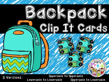 Backpack ABC Clip It Cards-3 Versions