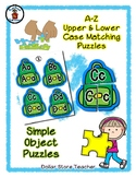 Backpack Book Bag - Alphabet / Letter Puzzles - Simple Objects