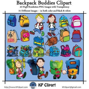 Backpack Buddies Clipart