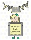 Student Checklists