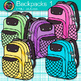 Backpack Clip Art {Rainbow Glitter Back to School Supplies