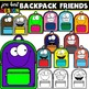 Backpack Clipart (Blank and Friendly Faces)