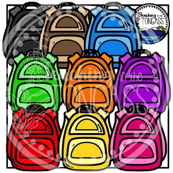 Backpack Clipart (School Clipart)