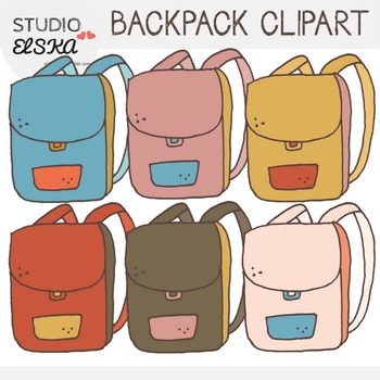 Backpack Clipart - Studio ELSKA