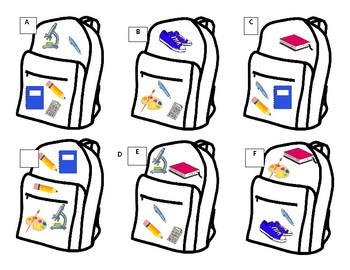 Backpack Clue Activity