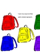 Backpack Color Matching Pre-K learning game