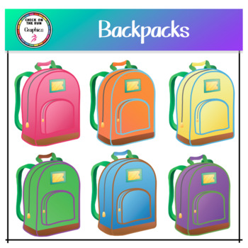 Backpack (Digital Clip Art)