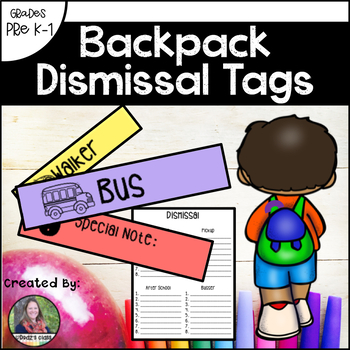 Backpack Dismissal Tags