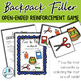 Backpack Filler: Open Ended Reinforcement Game: Great for Speech and Language