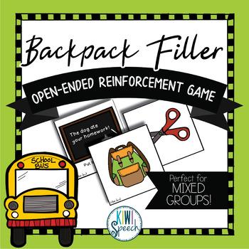 Backpack Filler: Open Ended Reinforcement Game: Great for