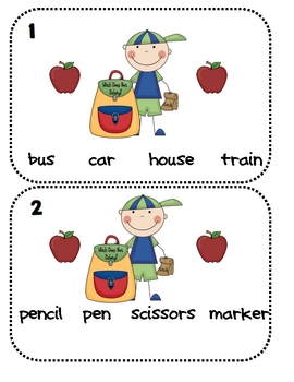Backpack Groups (Word Classification)