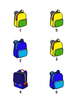 Backpack Hook Labels for Classroom Organization