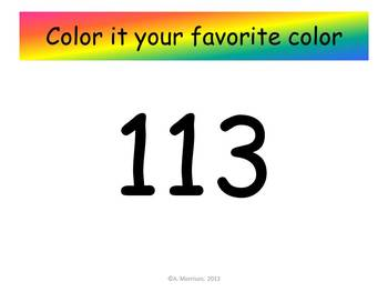 Backpack Hundreds Chart to 120 - Watch, Think, Color Mystery Pictures