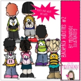 Backpack Kidlettes - Set 2 - Mini - by Melonheadz Clipart