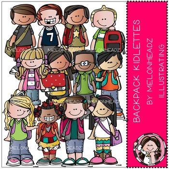 Melonheadz: Backpack Kidlettes clip art - COMBO PACK