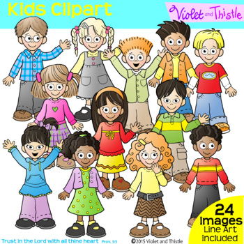Backpack Kids Set 1 LINE +CLIPART COMBO Clip Art Kids Children