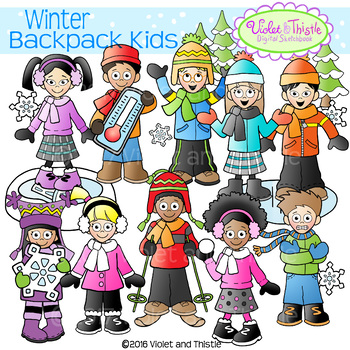 Winter Kids Clipart Kids Winter Activities Clipart Snowflakes Clip Art COMBO