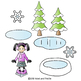Backpack Kids Clipart Winter Kids Activities Snowflakes Cl