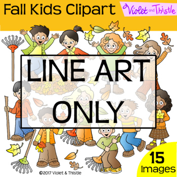 Backpack Kids Fall Activities Line Art Maple Oak Leaves