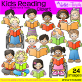 Backpack Kids Reading combo Close Reading Clipart Clip Art