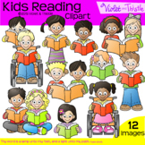 Backpack Kids Reading Children Clipart Clip Art Reading Kids Multiracial