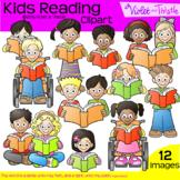 Backpack Kids Reading Children Clipart Clip Art Reading Ki