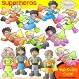 Superheros Clipart Kids Color Version Super Heros Clip Art Superhero Kids