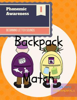 Beginning Letter Sound (Backpack Match)