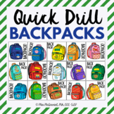 Quick Drill Backpacks     speech therapy or any skill drill