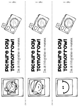 Backpack Reminder- Picture Day (English / Spanish)