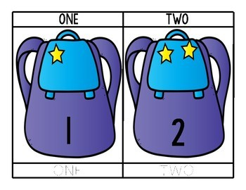 Backpack Star Counting and Tracing for Preschool, Prek, and Kindergarten