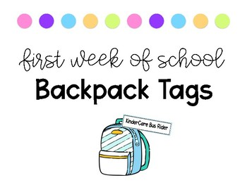 Backpack Tags {Color Code Your Dismissal}