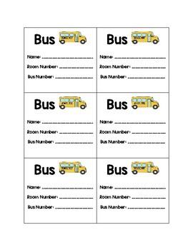 Backpack Transportation Tags
