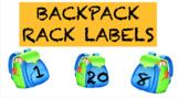 Backpack rack or cubbies labels