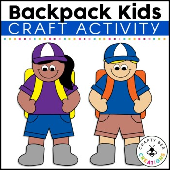 Backpacking Kids Cut and Paste