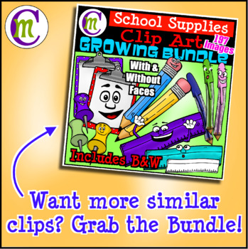 Backpacks Clip Art Back to School | August2017 Clip Artists Collab FREEBIE