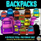 Backpacks Clip Art for Teachers