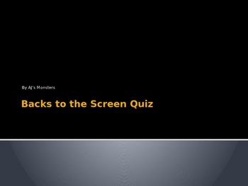 Backs to the Screen: Reading Standardized Testing Review Game 2