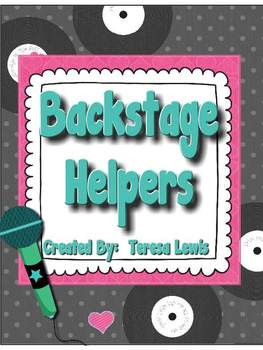 Backstage Helpers Bulletin Board Set