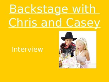 Backstage with Chris & Casey - Vocabulary